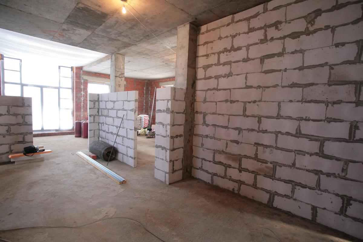схема кладки из пеноблоков стены